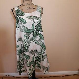 C&C California 100% linen shift dress S